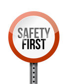 Safety first road sign illustration design — Stock Photo