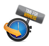 Time for winners watch message illustration — Stock Photo