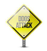 Ddos attack road sign illustration design — Stock Photo