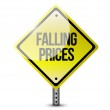Falling ahead road sign illustration design — Stock Photo