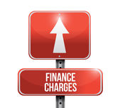 Finance charges road sign illustration design — Stock Photo