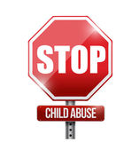 Stop child abuse road sign illustration design — Stock Photo