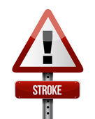 Stroke road sign illustration design — Stock Photo