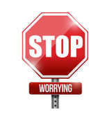Stop worrying road sign illustration design — Stock Photo