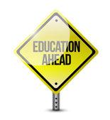 Education ahead road sign illustration design — Stock Photo