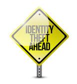 Identity theft ahead road sign illustration design — Stock Photo
