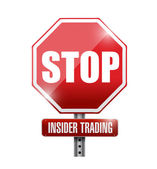 Stop insider trading road sign illustration design — Stock Photo