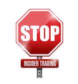 Stop insider trading road sign illustration design — Stock Photo