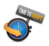 Tempo para se adaptar a ilustração do conceito de relógio — Foto Stock