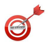Gerçek başarı hedefi dart illüstrasyon — Stok fotoğraf