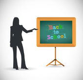 Back to school presentation concept illustration — Stock Photo