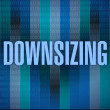 Downsizing text on a binary background. — Stock Photo