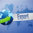 Export world map illustration design — Stock Photo
