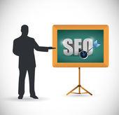 Návrh ilustrace prezentace seo — Stock fotografie