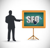 Seo presentation illustration design — Stockfoto