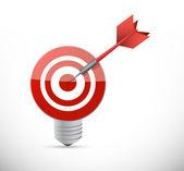 Target idea light bulb illustration design — Stock Photo