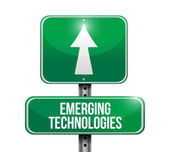 Emerging technologies road sign illustration — Stock Photo