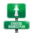 Strategic business plan road sign illustration — Stock Photo