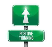 Positive thinking road sign illustration design — Stock Photo