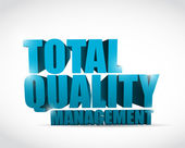 Total quality management text illustration — Stock Photo