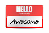Hello I am awesome tag. Illustration design — Stock Photo