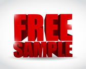 Free sample text illustration design — Stock Photo