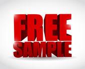 Free sample text illustration design — Foto de Stock