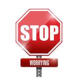 Přestaň se strachovat silnice znamení ilustrace design — Stock fotografie