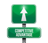 Competitive advantage road sign illustration — Stock Photo