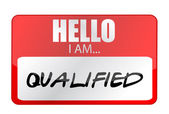 Hello I am qualified tags. Illustration design — Stock Photo