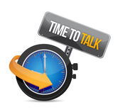 Time to talk watch illustration design concept — Stock Photo