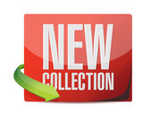 New collection sticker illustration design — Stock Photo