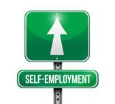 Self employment road sign illustration design — Stock Photo