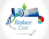 Reduce cost business concept illustration — Stock Photo