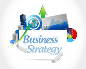 Business strategy concept sign illustration design — Stock Photo