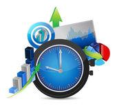 业务概念图的时间 — 图库照片