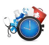 Medical time concept illustration design — Stock Photo