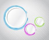 Ink color circles illustration design graphic — Stock Photo