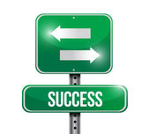 Success road sign illustration — Stock Photo