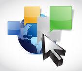 Globo comunicação conceito ilustração design — Foto Stock