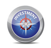 Compass to investment. illustration design — Stock Photo