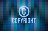 Copyright and binary illustration design — Stock Photo