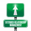 Extended relationship management road illustration — Stock Photo