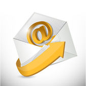 Envelope email. contact us illustration — Stock Photo