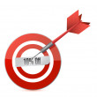 Photo: Target 10 percentage discount illustration design
