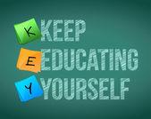 держите образования себя иллюстрации дизайн — Стоковое фото