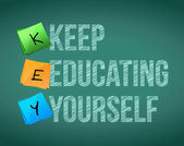 Keep education yourself illustration design — Stok fotoğraf