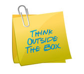 Think outside the box message written on a post — Stock Photo