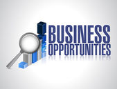 Search for business opportunities. graph research — Stock Photo