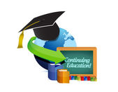 Continuing education concept illustration — Stock Photo